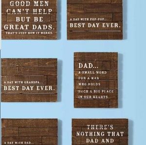 3 Hallmark Father's dad Rustic wood sign Gift cute